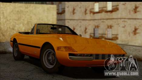 Ferrari 365 GTS4 Daytona (US-spec) 1971 for GTA San Andreas back left view