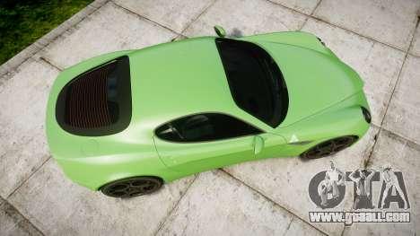 Alfa Romeo 8C Competizione 2008 for GTA 4 right view