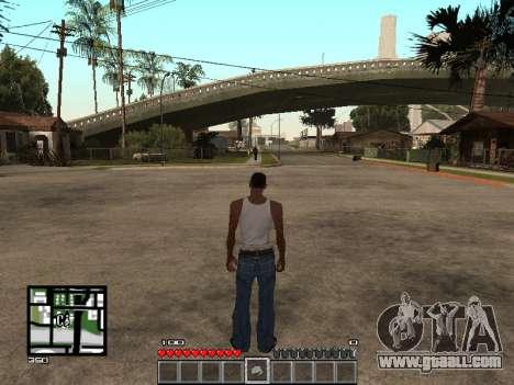 C-Hud Minecraft for GTA San Andreas