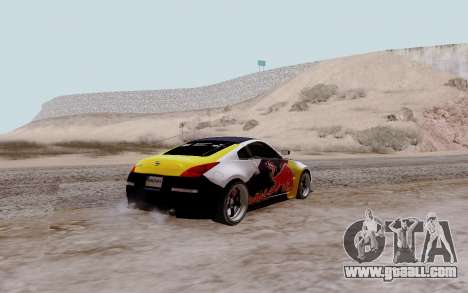 Nissan 350Z Red Bull for GTA San Andreas left view