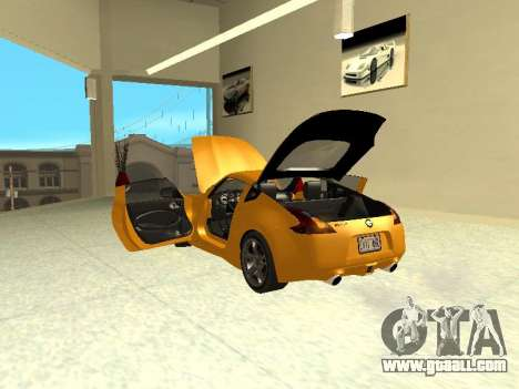 Nissan 370 Z Z34 2010 Tunable for GTA San Andreas inner view