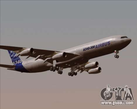 Airbus A340-300 Airbus S A S House Livery for GTA San Andreas inner view