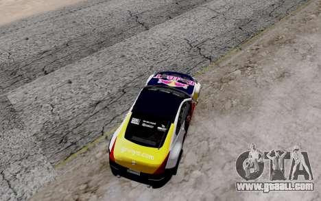 Nissan 350Z Red Bull for GTA San Andreas inner view
