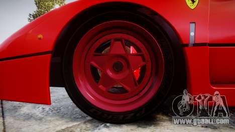 Ferrari F40 1987 [EPM] Tricolore for GTA 4 back view