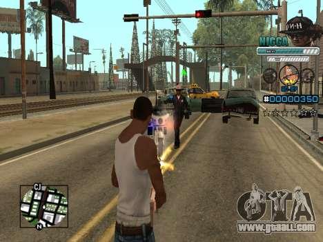 C-HUD Man in a Cap for GTA San Andreas fifth screenshot