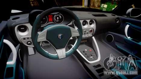 Alfa Romeo 8C Competizione 2008 for GTA 4 inner view