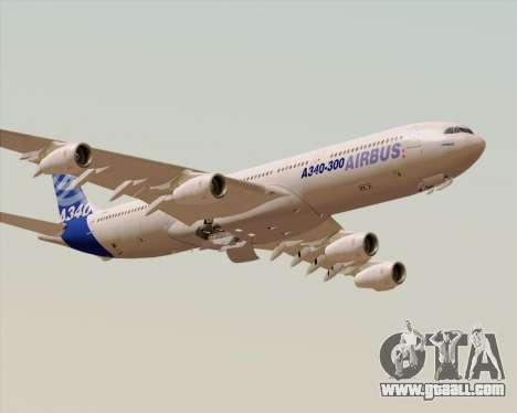 Airbus A340-300 Airbus S A S House Livery for GTA San Andreas bottom view