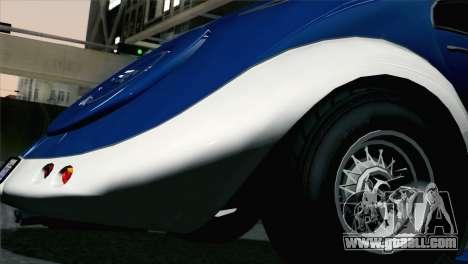 GTA V Truffade Z-Type [HQLM] for GTA San Andreas back left view