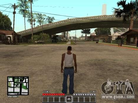 C-Hud Minecraft for GTA San Andreas second screenshot