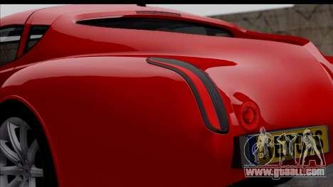 Morgan AeroSS 2013 v1.0 for GTA San Andreas back view