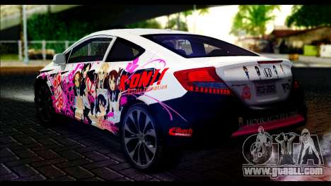 Honda Civic SI 2012 Itasha K-ON for GTA San Andreas