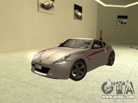 Nissan 370 Z Z34 2010 Tunable for GTA San Andreas upper view