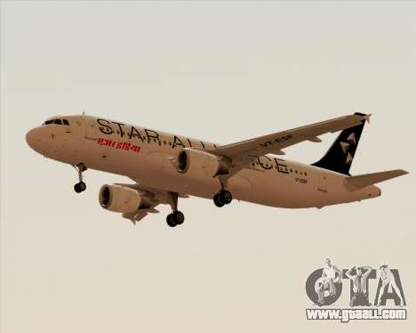 Airbus A320-200 Air India (Star Alliance Livery) for GTA San Andreas left view
