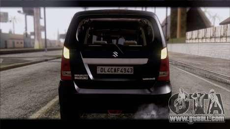 Suzuki Wagon R 2010 for GTA San Andreas inner view