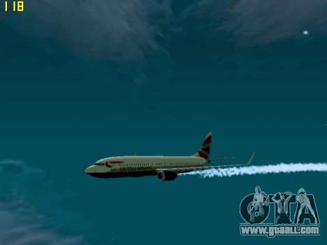 Boeing 737-800 British Airways for GTA San Andreas