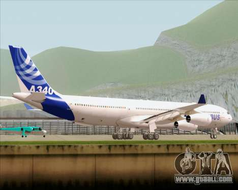 Airbus A340-300 Airbus S A S House Livery for GTA San Andreas back left view