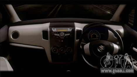 Suzuki Wagon R 2010 for GTA San Andreas back left view