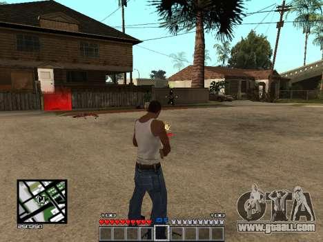C-Hud Minecraft for GTA San Andreas third screenshot