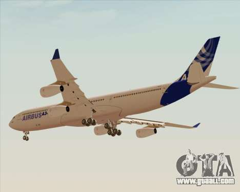 Airbus A340-300 Airbus S A S House Livery for GTA San Andreas back view