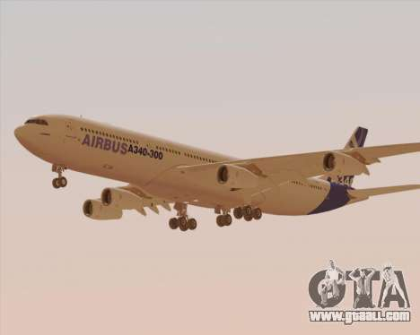 Airbus A340-300 Airbus S A S House Livery for GTA San Andreas side view