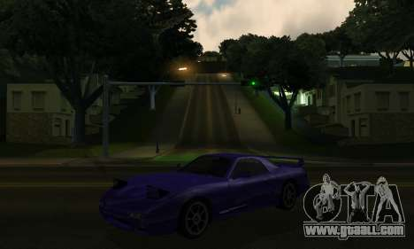 Beta ZR-350 for GTA San Andreas inner view