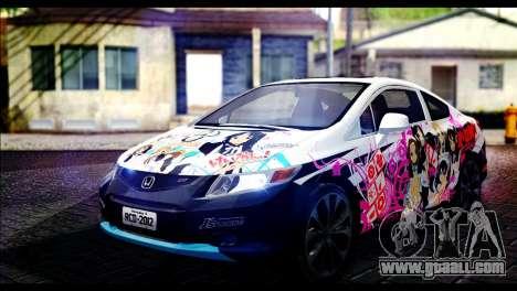 Honda Civic SI 2012 Itasha K-ON for GTA San Andreas