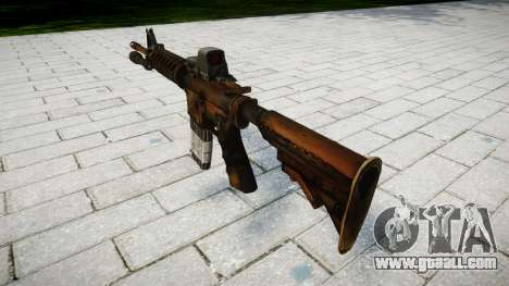 Tactical M4 assault rifle target for GTA 4 second screenshot