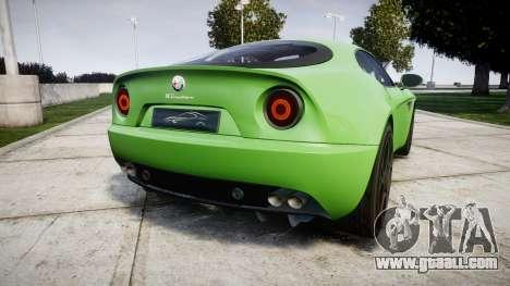 Alfa Romeo 8C Competizione 2008 for GTA 4 back left view