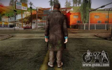 Aiden Pearce from Watch Dogs v3 for GTA San Andreas second screenshot