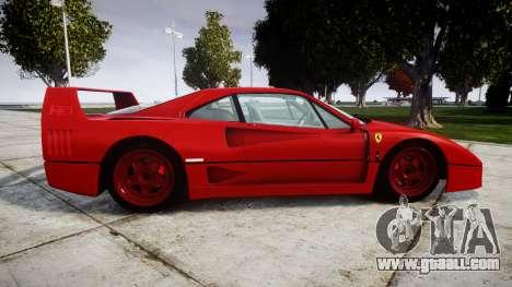 Ferrari F40 1987 [EPM] Tricolore for GTA 4 left view