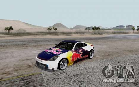 Nissan 350Z Red Bull for GTA San Andreas back view