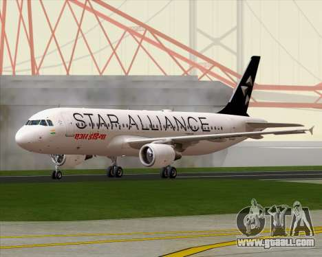 Airbus A320-200 Air India (Star Alliance Livery) for GTA San Andreas right view