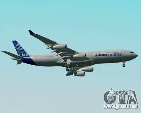 Airbus A340-300 Airbus S A S House Livery for GTA San Andreas upper view