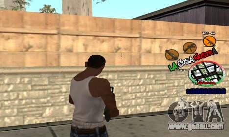 C-HUD La Cosa Nostra for GTA San Andreas third screenshot