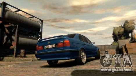 BMW M5 E34 1995 for GTA 4 left view