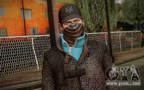 Aiden Pearce from Watch Dogs v3 for GTA San Andreas third screenshot
