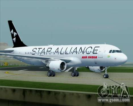 Airbus A320-200 Air India (Star Alliance Livery) for GTA San Andreas upper view