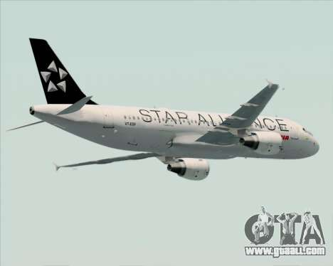 Airbus A320-200 Air India (Star Alliance Livery) for GTA San Andreas inner view