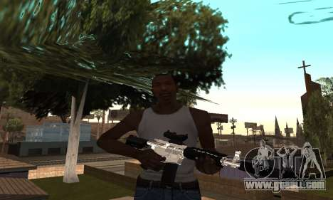 Chrome M4 for GTA San Andreas second screenshot