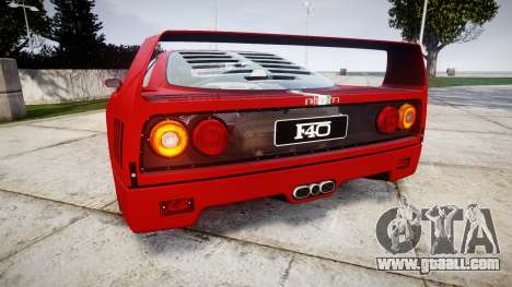 Ferrari F40 1987 [EPM] Tricolore for GTA 4 back left view