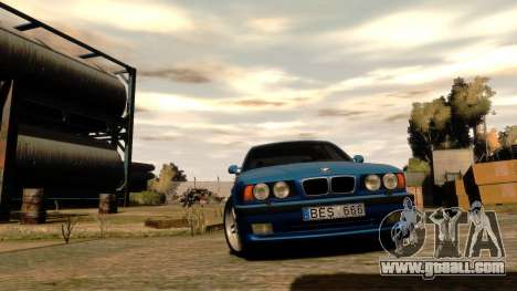 BMW M5 E34 1995 for GTA 4 inner view
