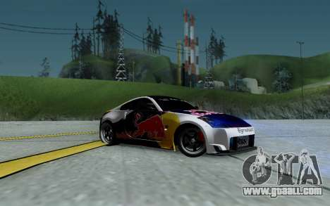Nissan 350Z Red Bull for GTA San Andreas bottom view