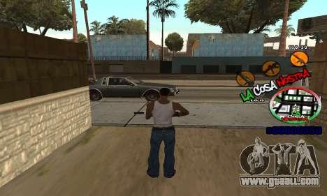 C-HUD La Cosa Nostra for GTA San Andreas second screenshot