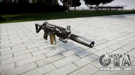 Machine SIG SG 552 silencer for GTA 4