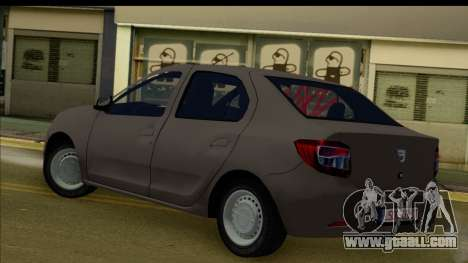 Dacia Logan 2013 for GTA San Andreas back left view