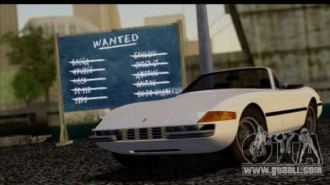 Ferrari 365 GTS4 Daytona (US-spec) 1971 for GTA San Andreas