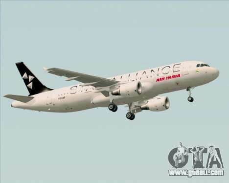 Airbus A320-200 Air India (Star Alliance Livery) for GTA San Andreas wheels