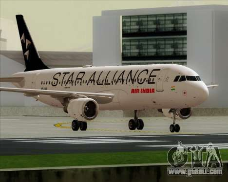 Airbus A320-200 Air India (Star Alliance Livery) for GTA San Andreas