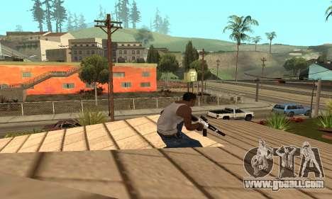 Chrome M4 for GTA San Andreas third screenshot