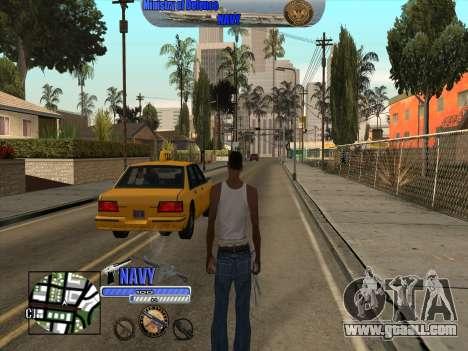 C-HUD Navy - ВМФ for GTA San Andreas second screenshot